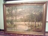 Tablou/peisaj ulei/panza/Mare/, Natura, Art Deco, Hama