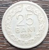 (MR7) MONEDA ROMANIA - 25 BANI 1953, REPUBLICA POPULARA ROMANA, MAI RARA