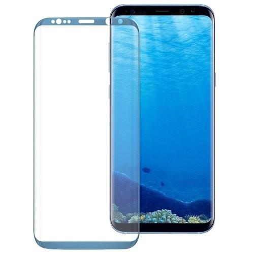 Folie Sticla Samsung Galaxy S8 Plus g955 Blue Fullcover Tempered Glass Ecran Display LCD