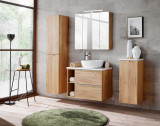 Set Mobilier pentru baie, 8 piese, Capri Oak XL
