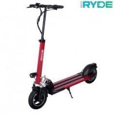 Trotineta electrica pliabila RYDE 500 - seria 10inch, Viteza maxima 45 Km/h, Autonomie 25-30 Km/h, Putere motor 500 W (Rosu)