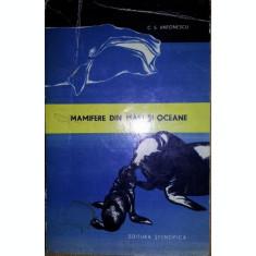 MAMIFERE DIN MARI SI OCEANE - C . S . ANTONESCU