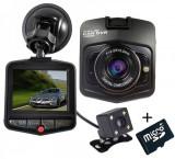 Camera auto Dubla iUni Dash 806, Full HD, 12Mpx, 2.5 Inch, 170 grade, Parking monitor, G senzor, Black + Card 16GB Cadou