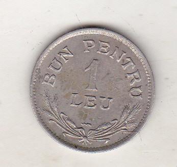 bnk mnd Romania 1 leu 1924 Poissy - stare buna foto