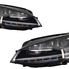 Faruri 3D LED VW Golf VII (2012-2017) R-Line LED Semnalizare Dinamica