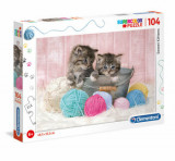 Cumpara ieftin Puzzle Super Color Sweet Kittens, 104 piese