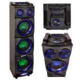 Cumpara ieftin Boxa bluetooth portabila Ibiza Sound, 300 W, USB, AUX, carucior inclus, lumina LED