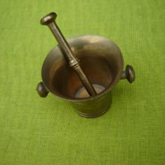 Mojar mic din bronz cu 2 manere laterale