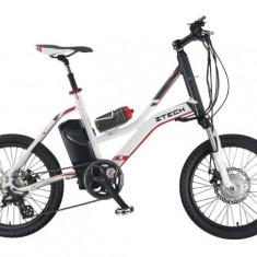 Bicicleta electrica cu cadru aluminiu ZT-72 CITYLINK SPORT ALB