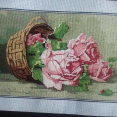 Vand goblen Cos cu trandafiri