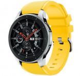Curea ceas Smartwatch Samsung Gear S3, iUni 22 mm Silicon Yellow