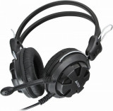 Cumpara ieftin Casti cu microfon A4tech, ComfortFit Stereo HeadSet, Full size, 20-20000Hz, 32 ohm, cablu 2m, culoare neagra, Jack 3.5 mm, Volume co ntrol, Removable