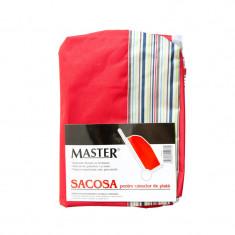 Sacosa textila pentru carucior piata Master, Rosu