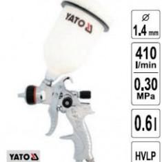 Pistol de vopsit cupa sus, duza 1,4mm, YATO YT-2340