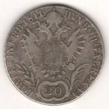 SV * Austria  20  KREUZER  1811  B  *  ARGINT  *  Imparatul  FRANCISC
