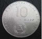 Germania ( Republica Democrata ):10 mark(marci) 1978_aniversare zbor USSR - DDR, Europa, Cupru-Nichel