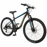 Cumpara ieftin Bicicleta MTB-HT Velors V2611B, roti 26inch, frane mecanice disc, cadru otel 17.5inch, 21 viteze (Negru/Albastru)