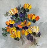 Tablou ulei (15/15 )-FLORI GALBENE, Impresionism