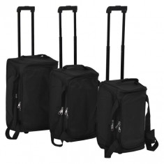 Set de valize, 3 piese, negru