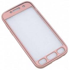 Husa Samsung Galaxy S7 Edge Flippy Full Silicone 360 Roz Auriu