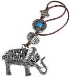 Elefantul bogatiei cu trompa in sus liliac si nod mistic, amuleta feng shui norocoasa pentru dragoste, protectie si oportunitati de bani