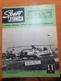 sport si tehnica noiembrie 1972-dacia 1300,model 1973,parasutism,formula 1