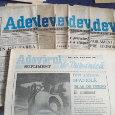 Ziarul Adevarul 1990, 6+1 numere