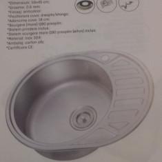 Chiuveta ovala pentru blat anticalcal 59x45 cm