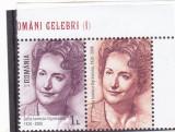 OAMENI CELEBRI I,SOFIA OGREZEANU, VAL 1 LEU CU VINIETA ,2018,MNH,ROMANIA, Nestampilat