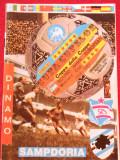 Program meci fotbal DINAMO BUCURESTI - SAMPDORIA (Cupa Cupelor 01.03.1989)