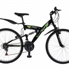 Bicicleta MTB HT 26 FIVE Falcon cadru otel culoare negru verde