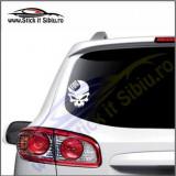 Skull Fiat -Stickere Auto-Cod:VIS-076-Dim. 15 cm. x 11.9 cm.