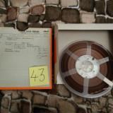 43.Banda Magnetofon AGFA rola policarb.26cm-Clasic (Akai,Teac,Tascam,Revox,BASF)