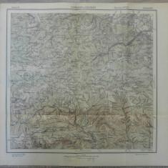 Voineasa si Resinar// harta Serviciul Geografic Armatei 1916