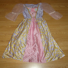 costum carnaval serbare rochie barbie printesa pentru copii de 4-5 ani