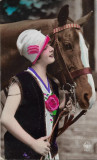 Carte postala cu cal interbelica Basarabia