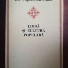Limba si cultura populara- Ion Popescu-Sireteanu