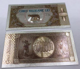 5000000 Lei 1947 - Bancnota polymer (plastic) placata cu Argint.999