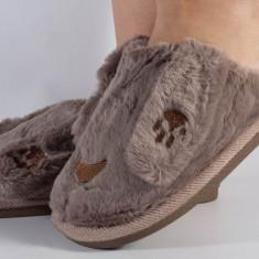 Papuci de casa maro (cod 418004)