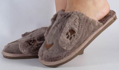 Papuci de casa maro (cod 418004) foto