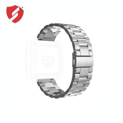 Curea metalica argintie compatibila cu FitBit Versa CellPro Secure foto