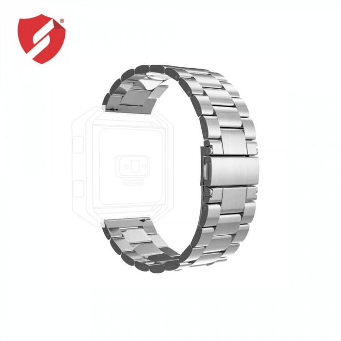 Curea metalica argintie compatibila cu FitBit Versa CellPro Secure