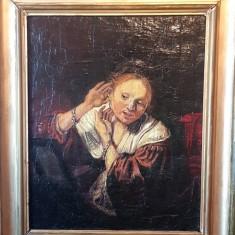 Rembrandt Tablou vechi pictura ulei pe panza portret rama lemn