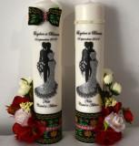 Lumanari imprimate si flori de matase FEIS020