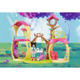 Set de joaca Mattel EnchanTimals Casuta lui Prue Panda si micutul sau prieten ursuletul Nari