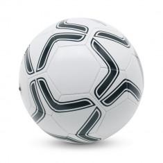 Minge de fotbal din pvc, marime 5, Everestus, MF01, alb, negru, desfacator de sticle inclus