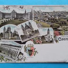 Litografie Cernauti Czernowitz Bukowina Bucovina