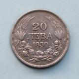 BULGARIA  -  20 Leva 1930  -  Boris III  -  Argint 4 g.