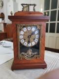 Pendula,ceas de semineu,nemtesc,HERMLE,cu intarsii,garantie,returnabil