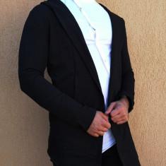 Cardigan negru - Cardigan toamna slim fit Cardigan eleganta Cardigan barbat